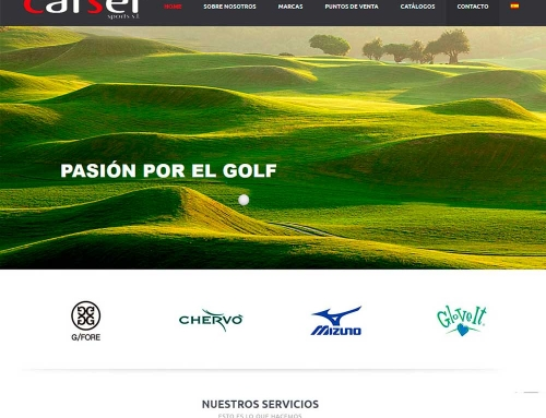 Diseño web Carser Sports
