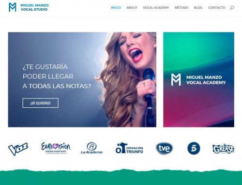 Rediseño web Miguel Manzo