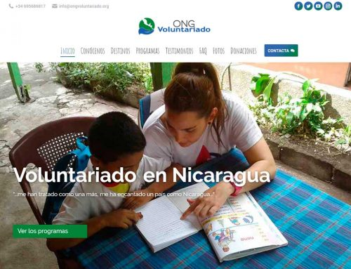 Diseño web ONG Voluntariado