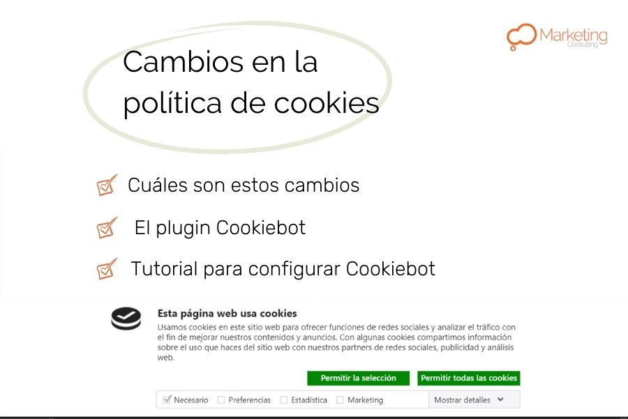 politica de cookies tutorial configurar plugin cookiebot
